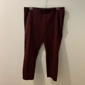 A New Day Burgundy Side Zip Ponte Skinnies